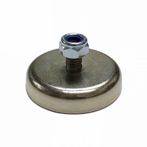 48mm x 10mm Neodymium Male Threaded Pot