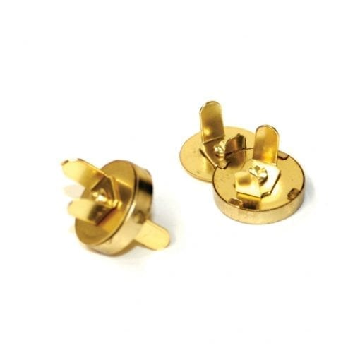 14mm x 3.5mm Gold Magnetic Bag Clasp