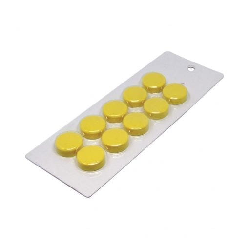 20mm Small Yellow Magnetic Discs