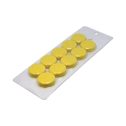 30mm Large Yellow Magnetic Discs