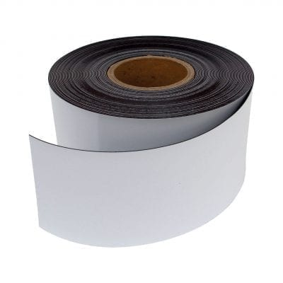 100mm White Magnetic Strip