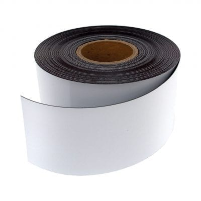 100mm White WO/WO Magnetic Strip
