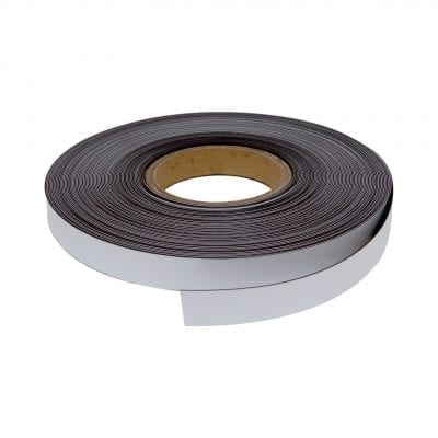 20mm White Magnetic Strip