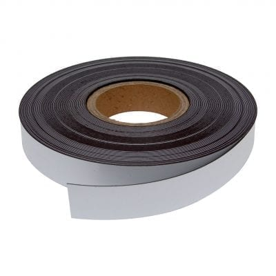 30mm White Magnetic Strip