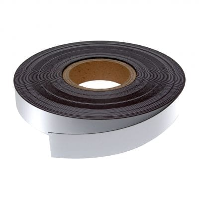 30mm White WO/WO Magnetic Strip