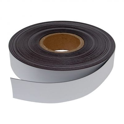 40mm White Magnetic Strip