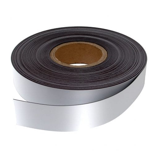 40mm White WO/WO Magnetic Strip