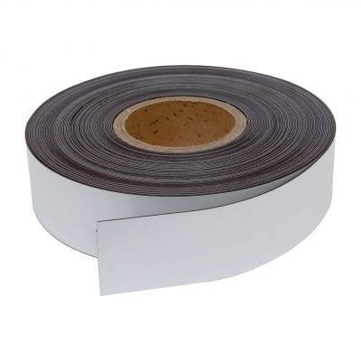 50mm White Magnetic Strip