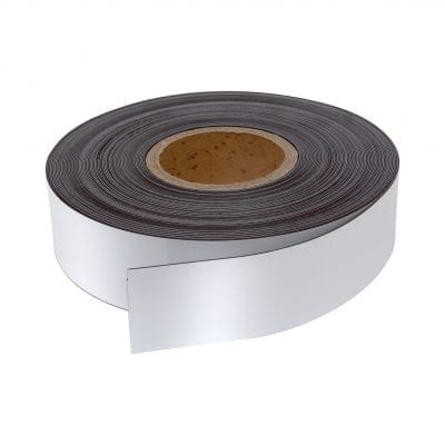 50mm White WO/WO Magnetic Strip