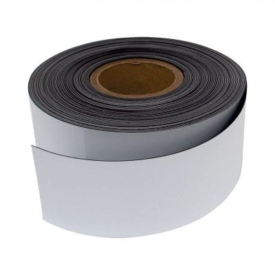 75mm White Magnetic Strip