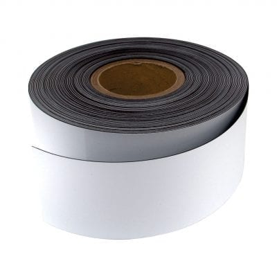 75mm White WO/WO Magnetic Strip