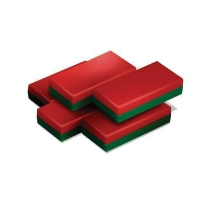 Coloured Magnetic Red Green MemoMag Block