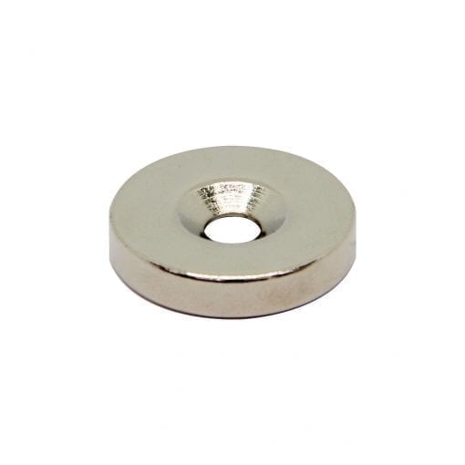 20mm x 4mm x 4mm Countersunk Neodymium Ring