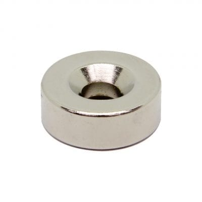 22mm x 7mm x 8mm Countersunk Neodymium Ring