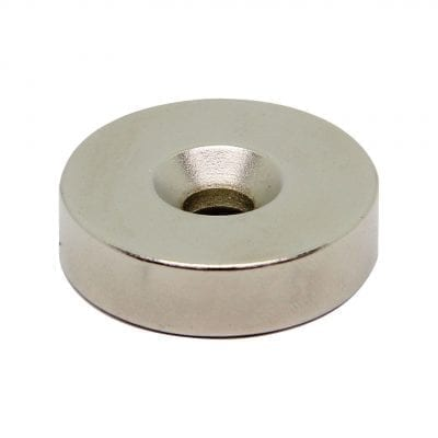 30mm x 6mm x 8mm Countersunk Neodymium Ring