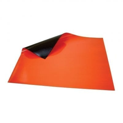 620mm x 500mm Orange Magnetic Sheet