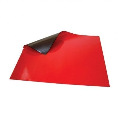 620mm x 500mm Red Magnetic Sheet
