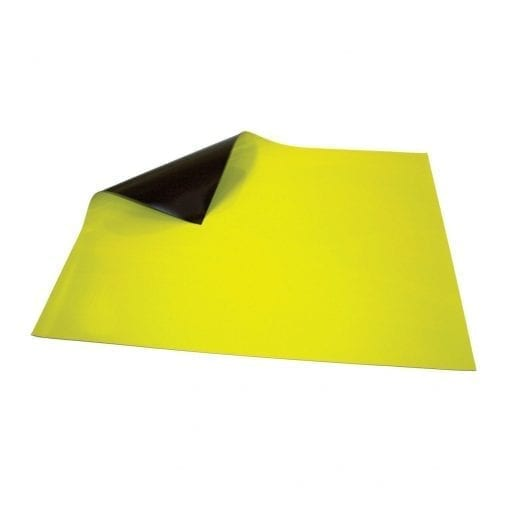 620mm x 500mm Yellow Magnetic Sheet