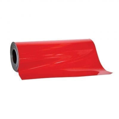0.85mm x 620mm Red Magnetic Sheeting