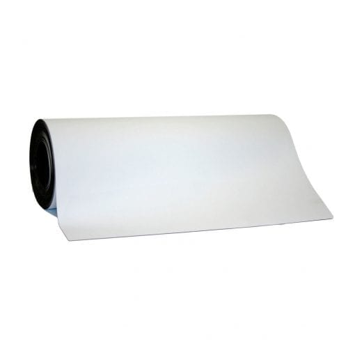 0.65mm x 620mm White Magnetic Sheeting - Per Meter