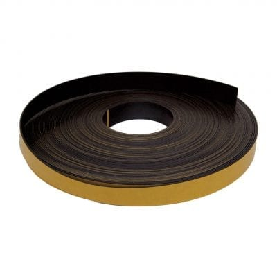 25mm x 1.6mm Self Adhesive Magnetic Strip