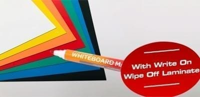 Write-On/Wipe-Off Magnetic Sheeting