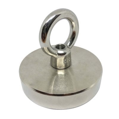 CAPN95E - 95mm x 22mm Neodymium Threaded Pot With Eyelet