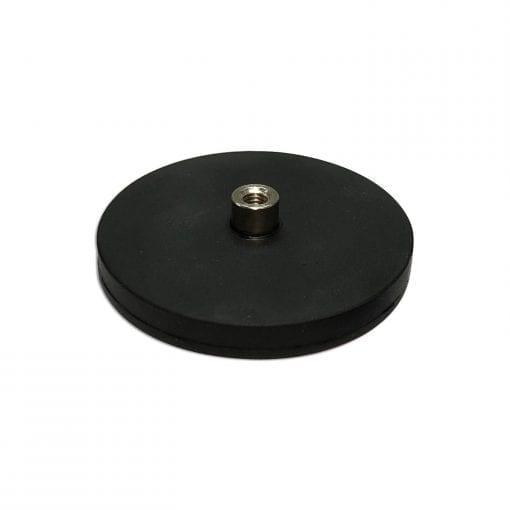 RUBBERMAG66FS - 66mm Female Rubber Encased Holding Magnet With Stud