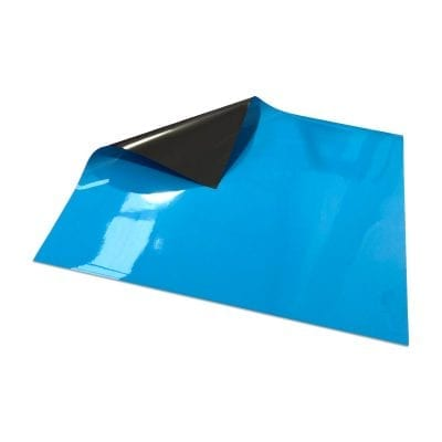 Light Blue Write On Wipe off Magnetic Sheeting