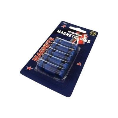 Blue Neodymium Pin Magnets