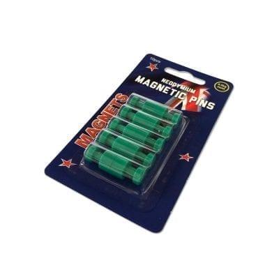 Green Neodymium Pin Magnets