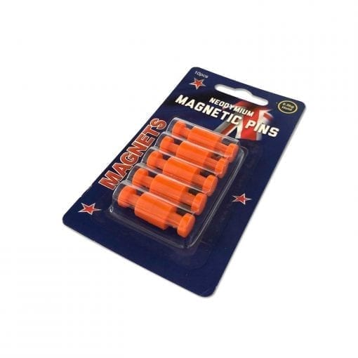 Orange Neodymium Pin Magnets