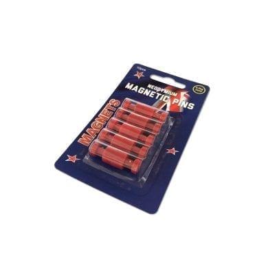 Red Neodymium Pin Magnets