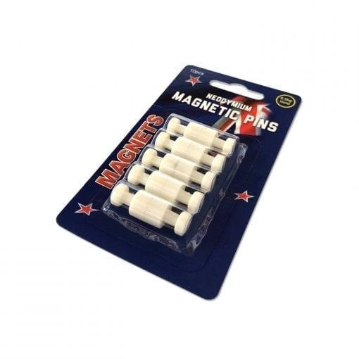 White Neodymium Pin Magnets