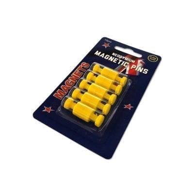 Yellow Neodymium Pin Magnets